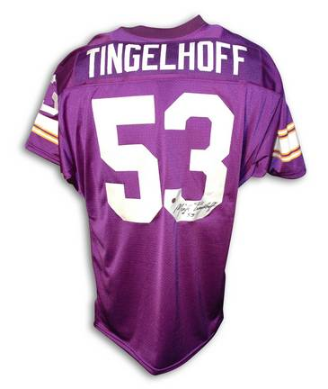 Mick Tingelhoff Minnesota Vikings Autographed Throwback NFL Football Jersey (Purple)