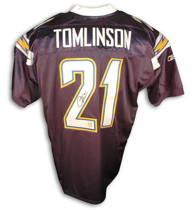 LaDainian Tomlinson San Diego Chargers Autographed Authentic Reebok NFL Football Jersey (Navy Blue)