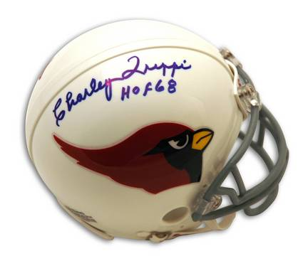 """Charley Trippi Chicago Cardinals Autographed Mini Helmet Inscribed with """"HOF 68"""""""