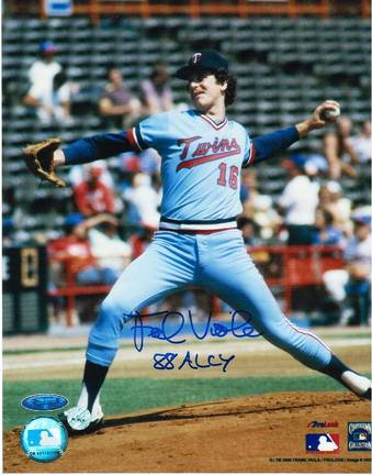 """Frank Viola Minnesota Twins Autographed 8"""" x 10"""" Unframed Photograph Inscribed with """"88 ALCY"""""""