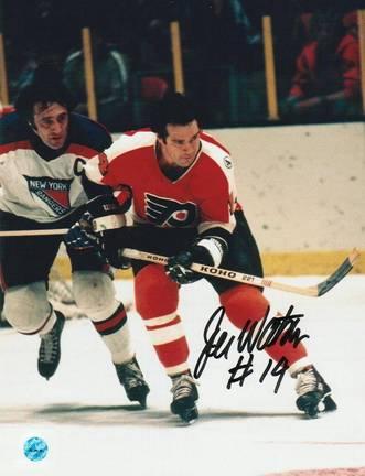 "Joe Watson Philadelphia Flyers Autographed 8"" x 10"" Photograph (Unframed)"