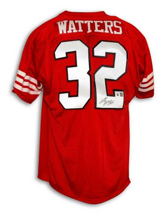 Ricky Watters Autographed San Francisco 49ers Red Throwback Jersey