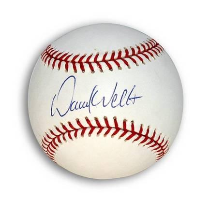 David Wells Autographed MLB Baseball