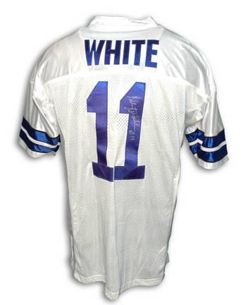 Danny White Dallas Cowboys Autographed Throwback NFL Football Jersey (White) (APE-White-DAN-J White-DAN-J) photo