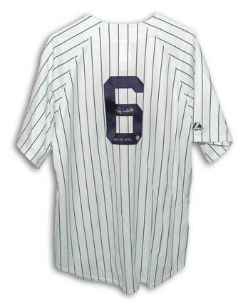 """Roy White New York Yankees Autographed MLB Baseball Jersey Inscribed """"77-78 WSC"""" (White / Navy Pinstripe)"""