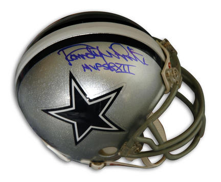 """Randy White Autographed Dallas Cowboys Riddell Mini Helmet Inscribed with """"SB XII MVP"""""""