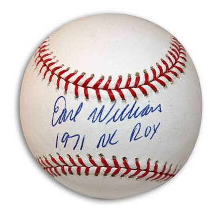 """Earl Williams Autographed Baseball Inscribed with """"1971 NL ROY"""""""