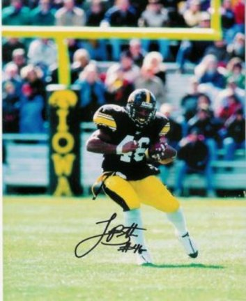 "Ladell Betts Autographed Iowa Hawkeyes 8"" x 10"" Photograph"