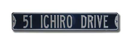 "Steel Street Sign: ""51 ICHIRO DRIVE"""