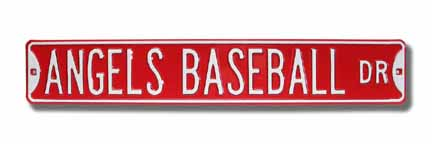 Steel Street Sign: ANGELS BASEBALL DR