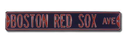 Steel Street Sign: BOSTON RED SOX AVE