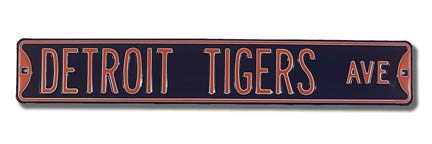 Steel Street Sign: DETROIT TIGERS AVE