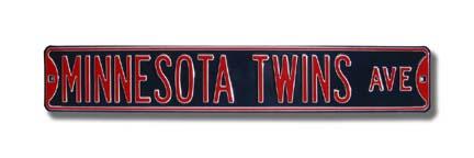 "Steel Street Sign: ""MINNESOTA TWINS AVE"
