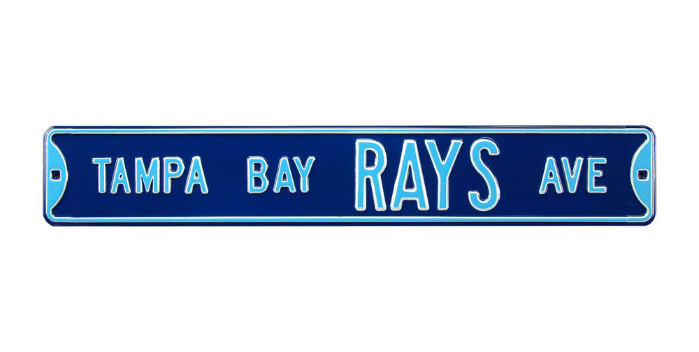 Steel Street Sign: TAMPA BAY RAYS AVE