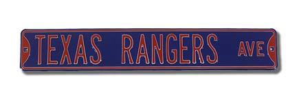 Steel Street Sign: TEXAS RANGERS AVE