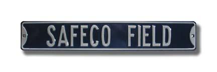 "Steel Street Sign: ""SAFECO FIELD"""
