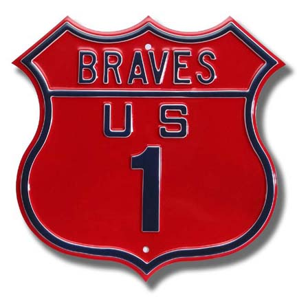 Steel Route Sign: BRAVES US 1