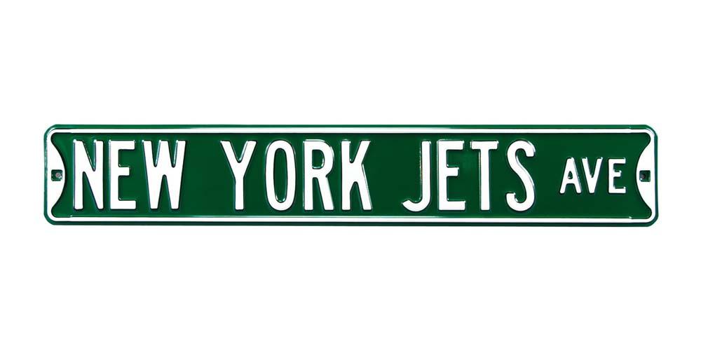 New York Jets 4.5'' x 17'' Street Zone Sign