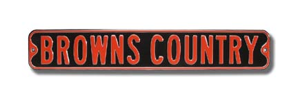 "Steel Street Sign: ""BROWNS COUNTRY'"