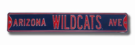 "Steel Street Sign: ""ARIZONA WILDCATS AVE"""