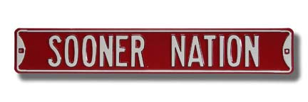 "Steel Street Sign:  ""SOONER NATION"""