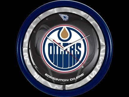 Edmonton Oilers Plasma Neon Clock