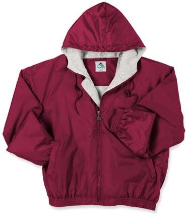Adult Hooded Fleece Lined Taffeta Jacket (4X-Large) From Augusta Sportswear