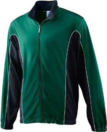Adult Brushed Tricot Color Block Jacket from Augusta Sportswear AUG-4330