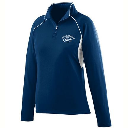 Ladies Poly/Spandex Half-Zip Pullover Jacket from Augusta Sportswear (2X-Large)