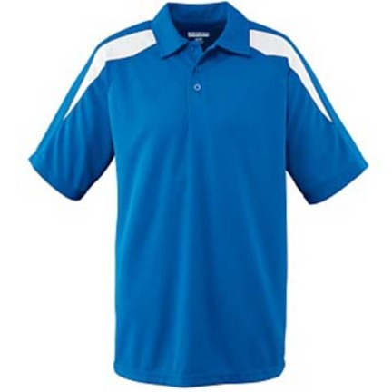 Wicking Textured Color Block Sport Shirt from Augusta Sportswear AUG-5086