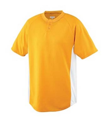 Wicking Color Block Two-Button Baseball Jersey from Augusta Sportswear AUG-538