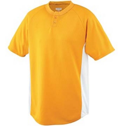 Youth Wicking Color Block Two-Button Baseball Jersey from Augusta Sportswear AUG-539