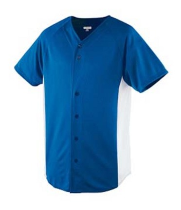 Wicking Color Block Button Front Baseball Jersey from Augusta Sportswear