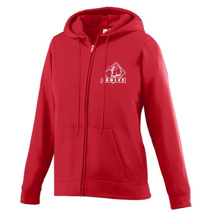 Ladies Wicking Fleece Full Zip Hooded Sweatshirt from Augusta Sportswear