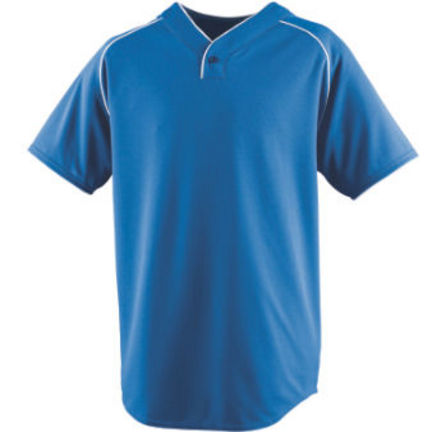 Adult Wicking One-Button Baseball Jersey (3X-Large) from Augusta Sportswear