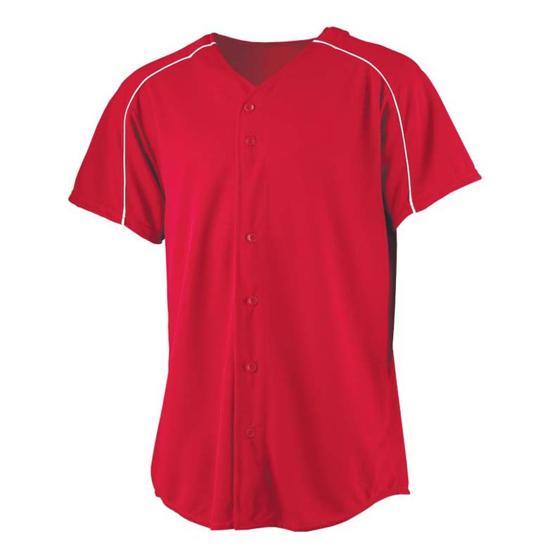 Wicking Button Front Baseball Jersey (3X-Large) from Augusta Sportswear