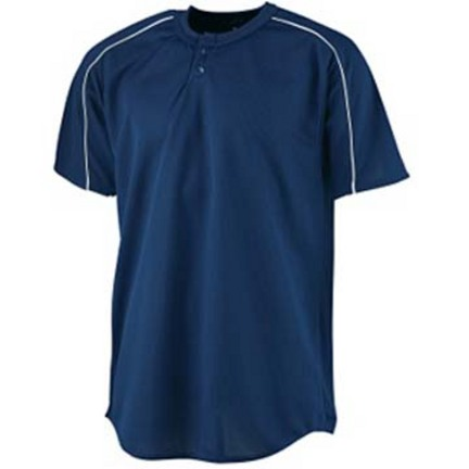 Wicking Two-Button Baseball Jersey (3X-Large) from Augusta Sportswear