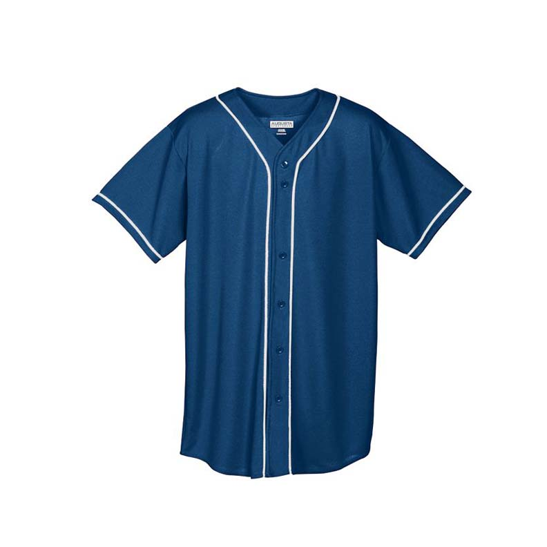 Wicking Mesh Button Front Baseball Jersey with Braid Trim (2X-Large) from Augusta Sportswear
