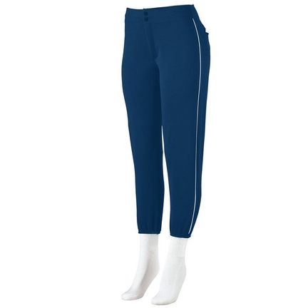 Ladies Low-Rise Softball Pants with Piping from Augusta Sportswear
