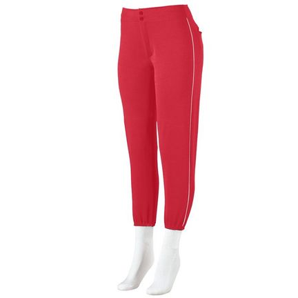 Girls Low-Rise Softball Pants with Piping from Augusta Sportswear