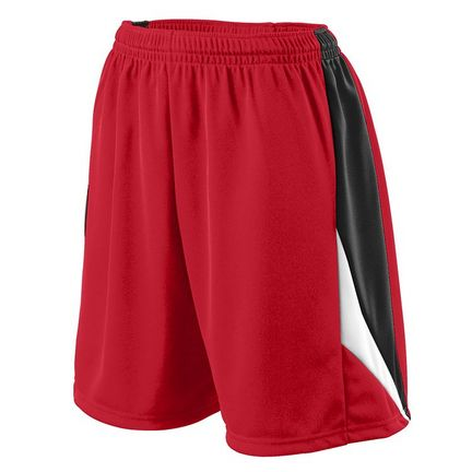 Girls Wicking Duo Knit Attack Shorts from Augusta Sportswear