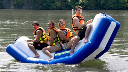 Sky Totter Inflatable 6 Person Water Teeter Totter