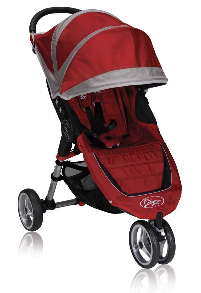 Click here for City Mini™ Single Stroller (Crimson / Gray)... prices