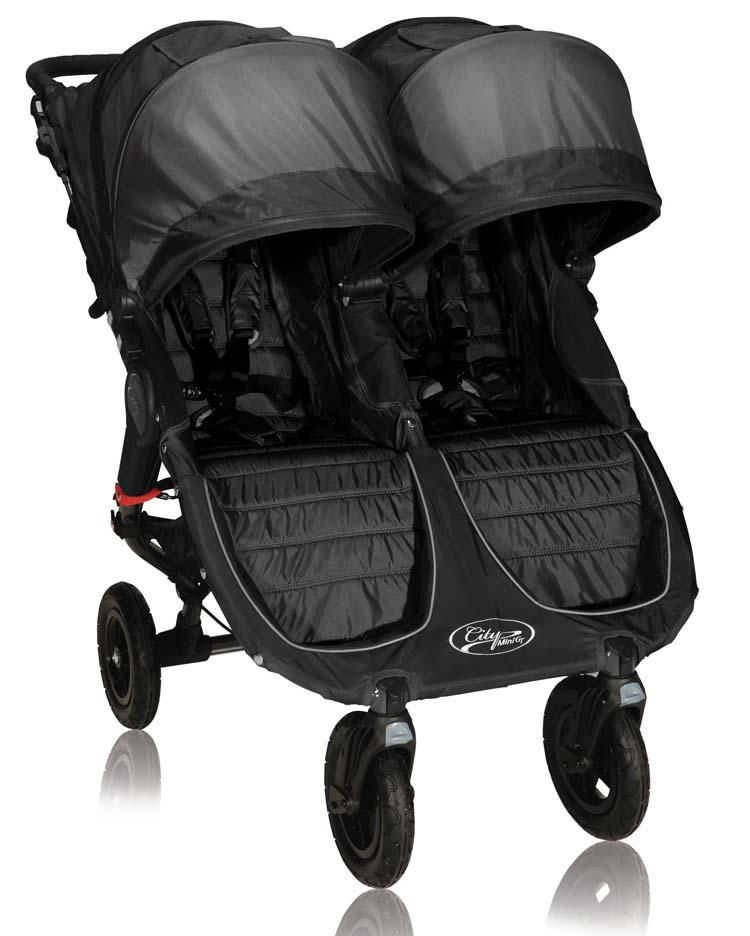 + Baby Jogger City Mini GT Double Stroller - Black/Shadow ...