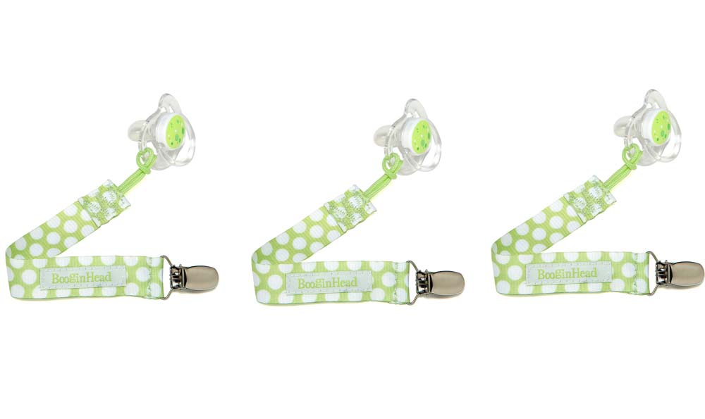 Click here for PaciGrip GREEN DOT Baby Lanyard / Holder with Clip... prices