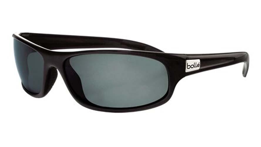 Anaconda Snakes Sport Sunglasses with Shiny Black Frame and Polarized TNS Oleo AF Lenses from Bolle