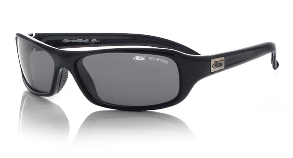 Fang Snakes Sport Sunglasses with Shiny Black Frame and Polarized TNS Oleo AF Lenses from Bolle