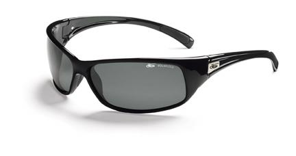 Recoil Snakes Sport Sunglasses with Shiny Black Frame and Polarized TNS Oleo AF Lenses from Bolle