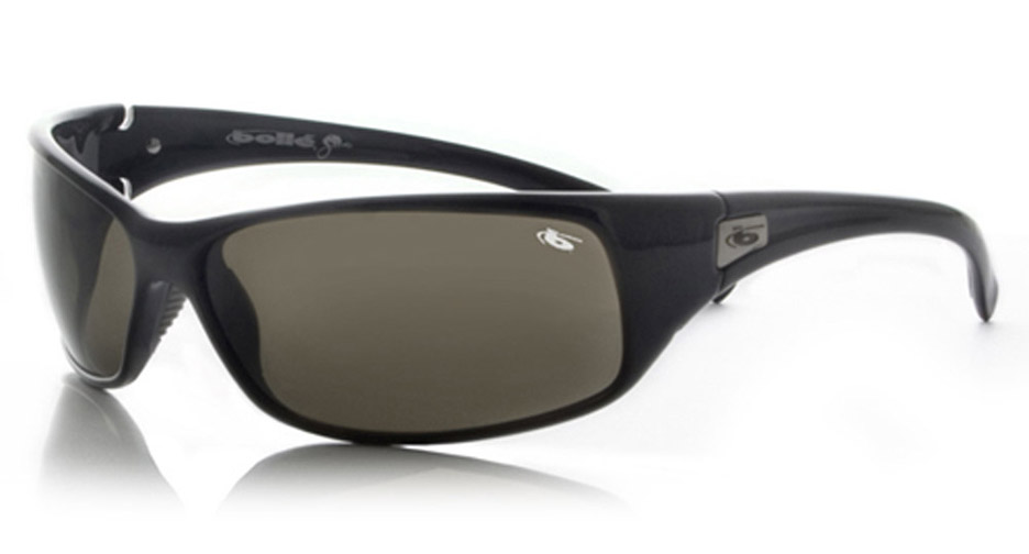Recoil Snakes Sport Sunglasses with Shiny Black Frame and TNS Lenses from Bolle