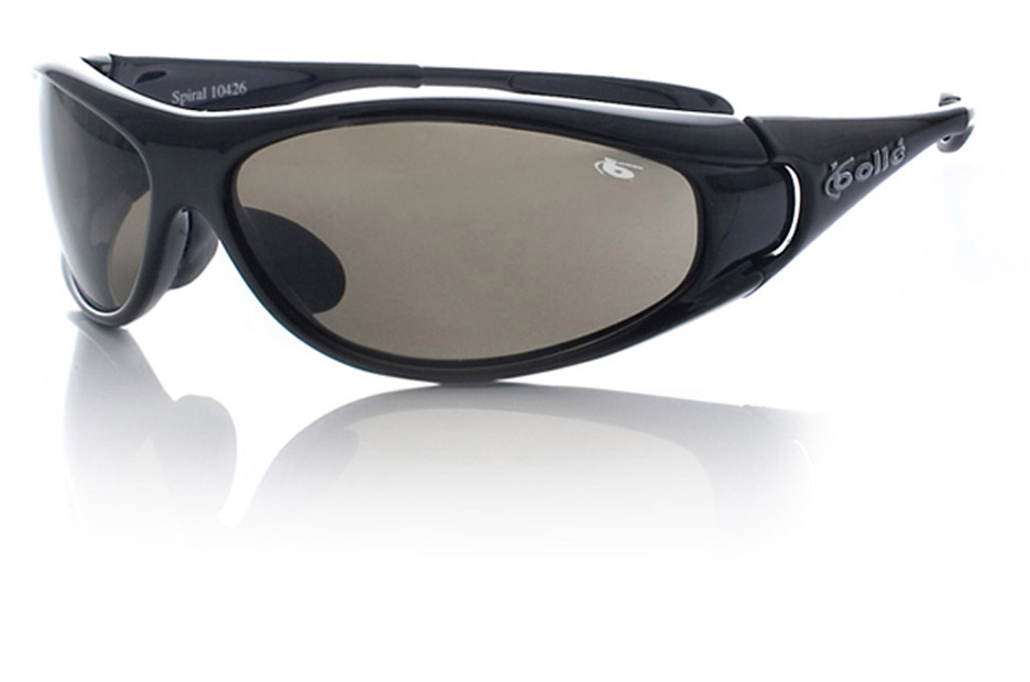 Spiral Sport Sunglasses with Shiny Black Frame and TNS Lenses from Bolle